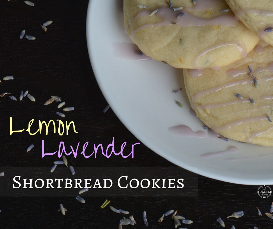 Lemon lavender shortbread cookie