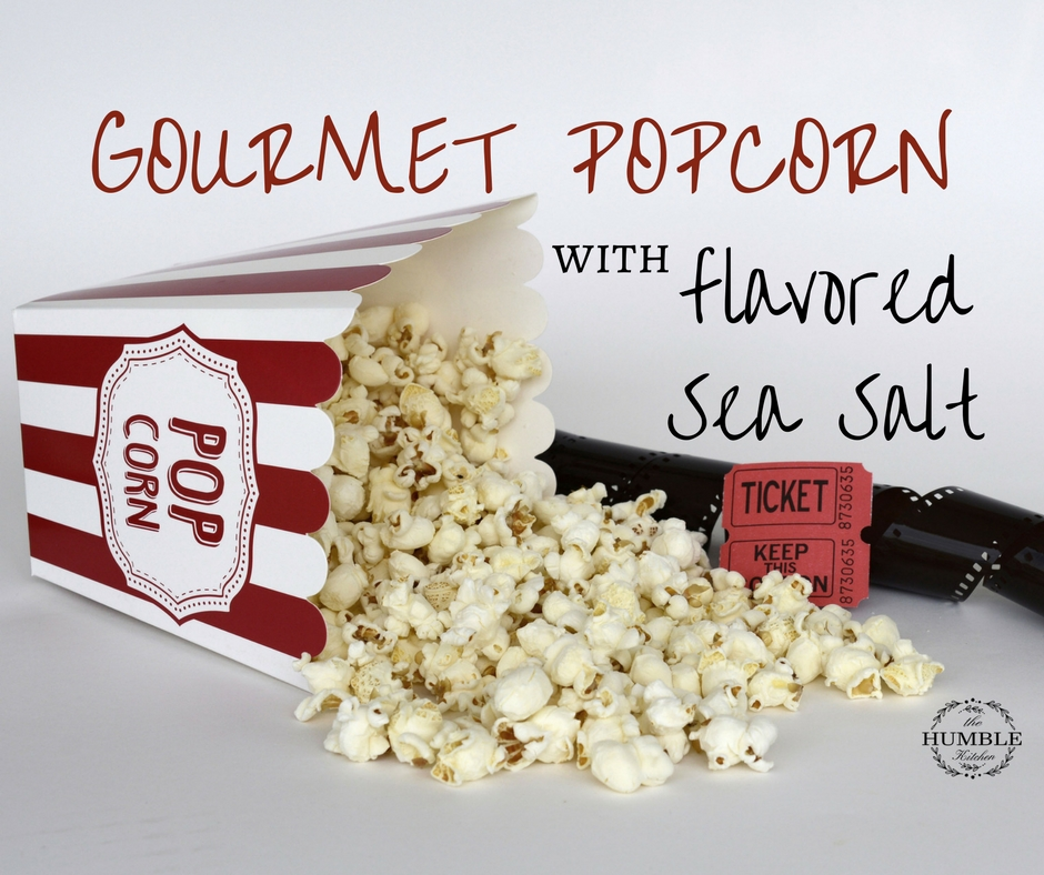 How to make one shake gourmet popcorn with flavored sea salt